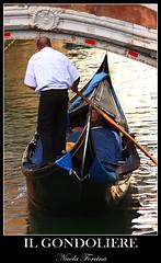 Il Gondoliere (Nicola Forcina) Tags: gondola laguna venezia gondoliere mywinners nicolaforcina
