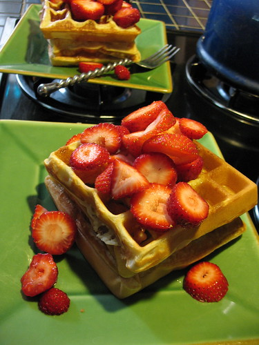 Mmmmm, sunday morning waffles