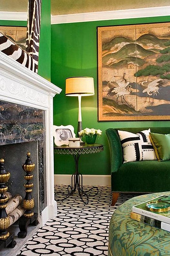 green black room