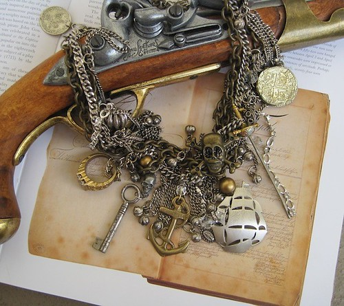 Along the Spanish Main-Pirate Queen Treasures Necklace One of a KInd OOAK