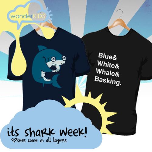 <(wonderkids)! shark week tees