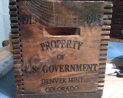 1913 Denver Mint Shipping Crate