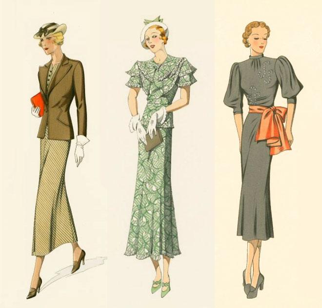 1930s fashion · Miss Moss