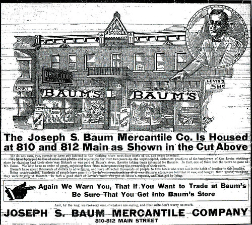 Ad for Joseph S. Baum Merchantile Company