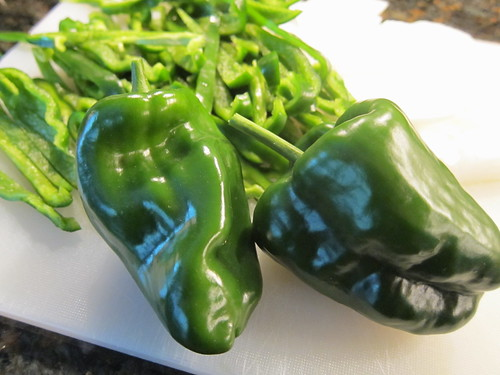 Poblanos from the garden