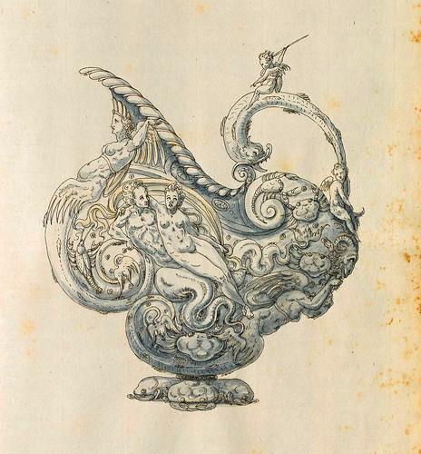 017-Escanciador de liquidos-Entwürfe für Prunkgefäße in Silber mit Gold-BSB Cod.icon.  199 -1560–1565- Erasmus Hornick