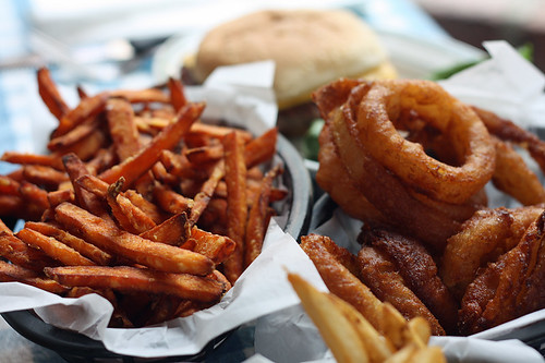 sweet potato fries & onion rings