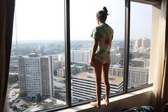 (alexis mire) Tags: atlanta window georgia hotel hilton pillow tiedye bun nicefeet canonrebelxsi alexismire