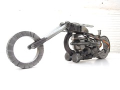Upcycled motorcycle Sculpture