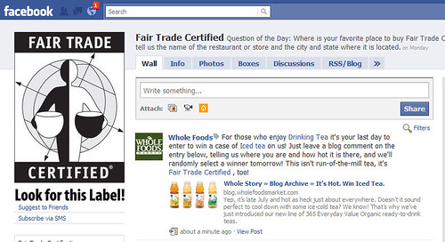Fair Trade Certified page on Facebook