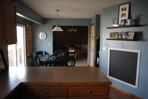 Kitchen into dining room