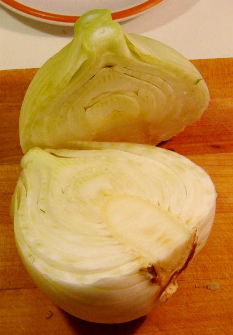 fennel cut in half