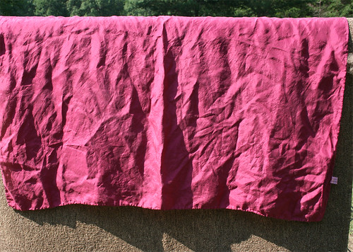 30 x 30 8mm silk scarf dyed with cochineal