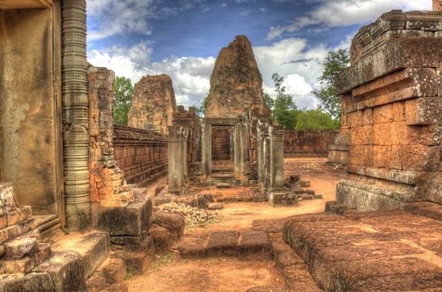 Angkor Wat Missing Door HDR