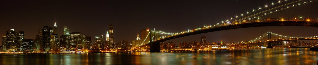 Downtown Manhattan Panorama - from the Brooklyn Heights Promenade, Brooklyn, NY