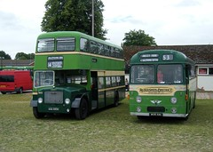 Aldershot & District duo (johnzebedee) Tags: bus heritage rally transport hampshire alton preservation hants busrally aecreliance dennisloline aldershotdistrict motorbus johnzebedee ansteypark