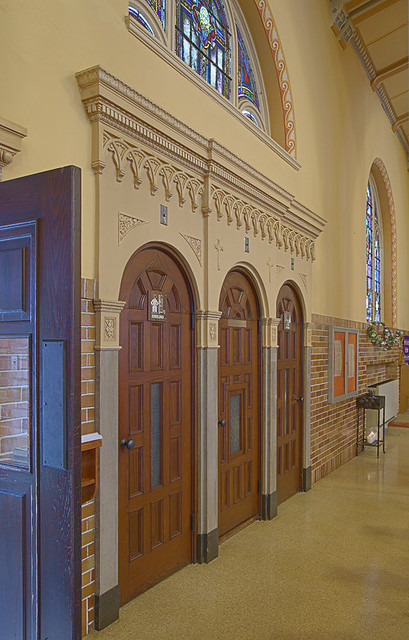 Saint Anthony Roman Catholic Church, in Lemay, Missouri, USA - confessional