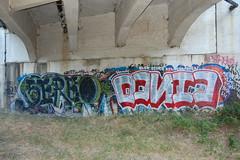 SEREO & CINCO (thelive@ction) Tags: bridge graffiti bay tag area cinco piece elsk hounds esk tlk bhk sereo