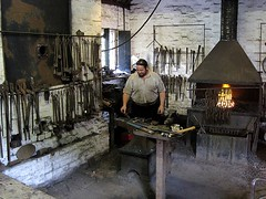 Blacksmith at Work (Snapshooter46) Tags: iron shropshire ironbridge blacksmith forge anvil blistshill victoriantown
