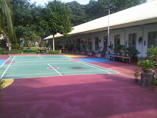 Another view of badminton court