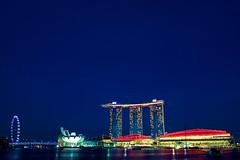 TJK_7954 (Andrew JK Tan) Tags: bridge wheel marina observation ir bay flyer singapore day flag parade resort national ndp helix sands mbs integrated skypark