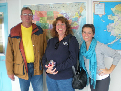 Allen, Judy and I on ferry from Skagway