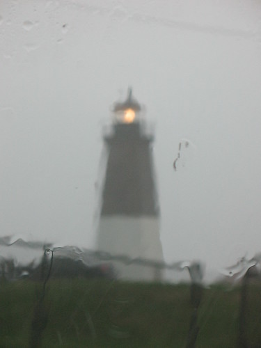summer storm at Point Judith, Rhode Island