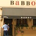 Outside Mario Batali's Babbo in New York (the biggest letdown of our trip)