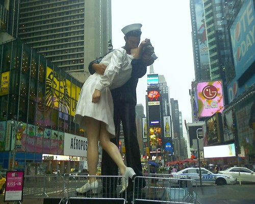 Big Kiss-in Event at Times Square this Sat. Not joining. Haha.