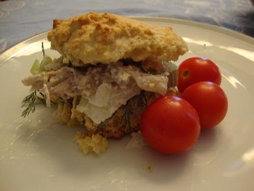 Cornbread Sandwich With Chicken Salad
