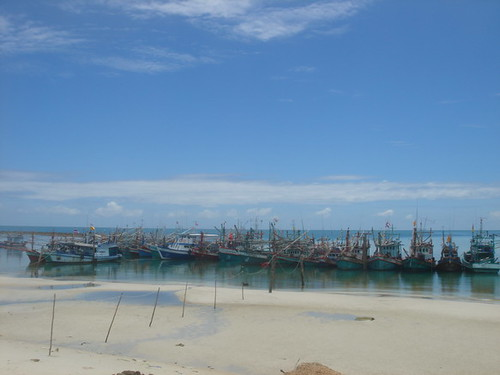 Fishing boats at Ao Chaloklum