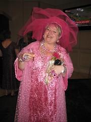 Ann Gracie as Dame Barbara Cartland (RWAus 2010 Cocktail Party)