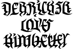 """Derrick Sr. Loves Kimberley"" & ""Kayanna and Derrick Jr."" Ambigram (pt.1)"