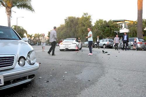 Porsche GT3 Crash Venice Beach California