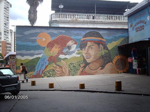 Mural en el Mercado San Martín