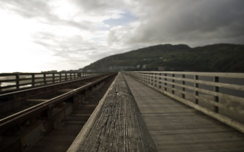 Looking Along Barmouth Railway Bridge