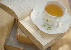 """Each cup of tea represents an imaginary voyage. "" (ImagesByClaire) Tags: texture tea naturallight teacup oldbooks florabella"
