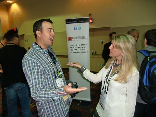 Brian Littleton and Theresa Farmer at Affiliate Summit East 2010