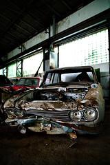 """Böser Blick"" war gestern... (Wolf-Ulf Wulfrolf) Tags: autos grumpy demolished weinviertel urbexaustria wwwungutknutat"