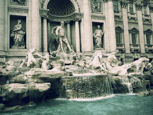 フリー写真素材, 建築・建造物, 宮殿・城, トレヴィの泉, イタリア, ローマ,
