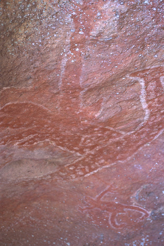 Rock painting at birthing cave on Guurrbi tour
