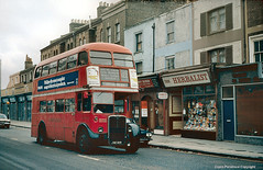The Last of London's RTs (Lady Wulfrun) Tags: red bus london garage lewisham 1978 february 1970s lt crystalpalace 122 londontransport leehighroad cravens aec plumstead se13 regentiii theherbalist jxc108 rt745