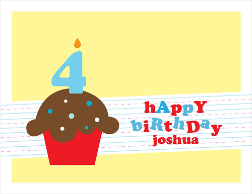 Happy 4th Birthday, Joshua!
