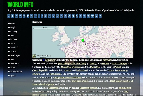 Yahoo Map Of Georgia.Geoplanet Christian Heilmann