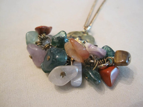 gemstones & snake pendant