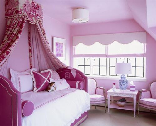 Ruthie Sommers Interiors - Very Pink Girls Bedroom