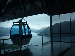 Gondola (Promod_Di) Tags: blue panorama mountains gloomy view platform shades cablecar gondola lakewakitipu