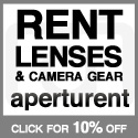 Get 10% off Lenses and Camera Gear Rental