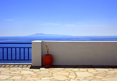 My favourite view in the world (alexguite) Tags: blue urn landscape balcony aegean greece kea andros cyclades batsi explored sunsetstudios stivari