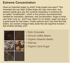 Extreme Concentration coffee chocolate
